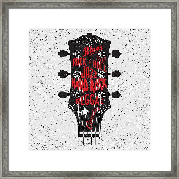 Hand Drawn Illustration With With A Framed Print