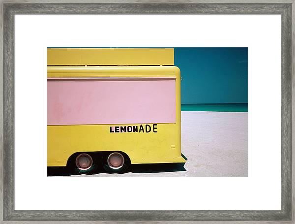 Hand Painted Lemonade Truck On Beach Framed Print