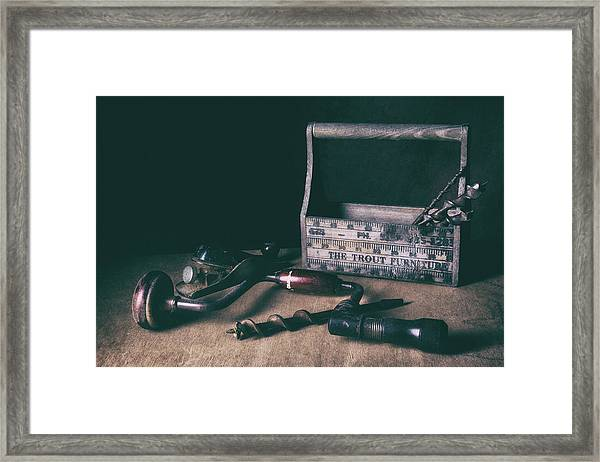 Hand Tools - Brace And Bits Framed Print