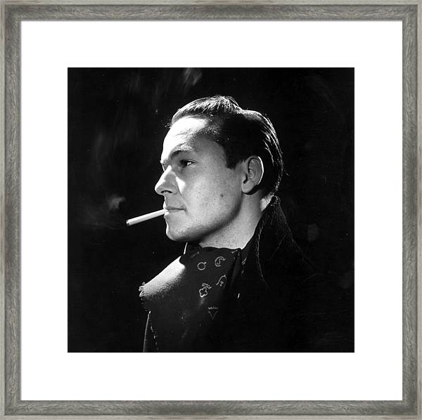 Handsome Smoker Framed Print by Baron