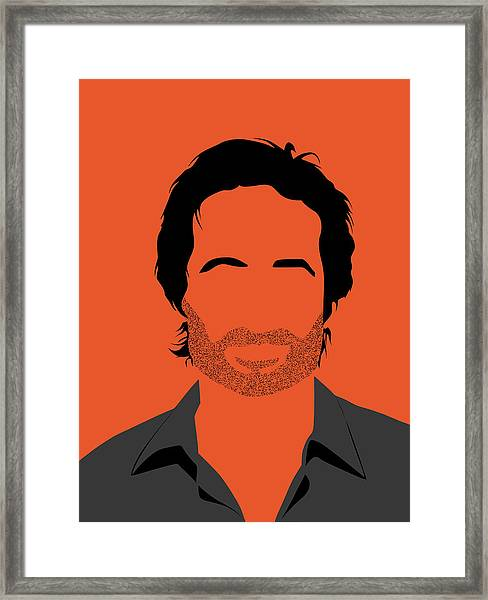 Hank Portrait Framed Print