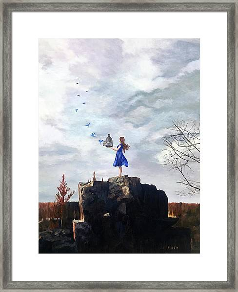 Happiness Released Framed Print
