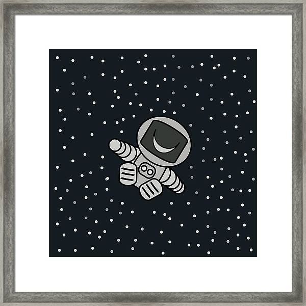 Happy Astronaut Framed Print