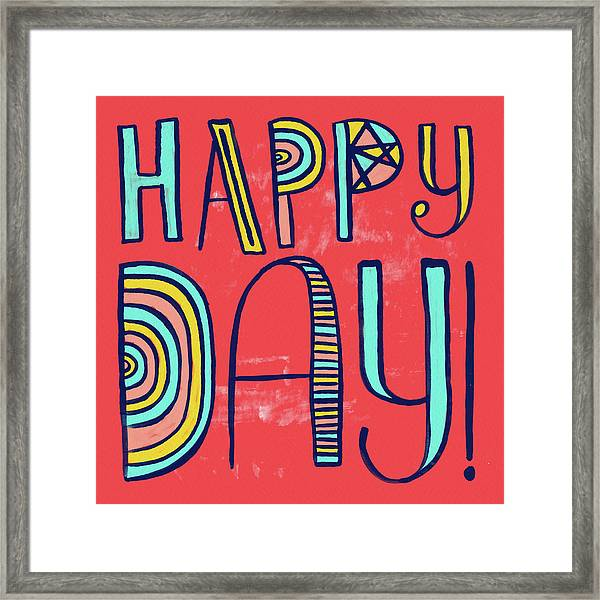 Happy Day Framed Print