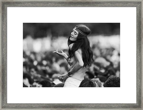 Happy Hippy Framed Print
