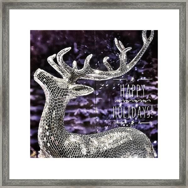 Happy Holiday Sparkle Framed Print