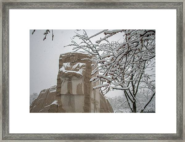 Happy Holidays At The King Memorial Framed Print