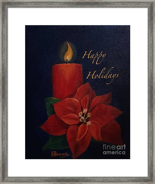 Framed Print featuring the painting Happy Holidays by Genevieve Brown