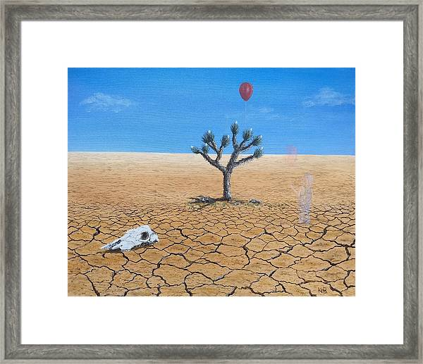 Framed Print featuring the painting Happy Little Tree by Kevin Daly