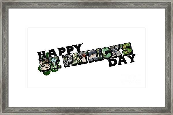 Happy St. Patrick's Day Big Letter Framed Print