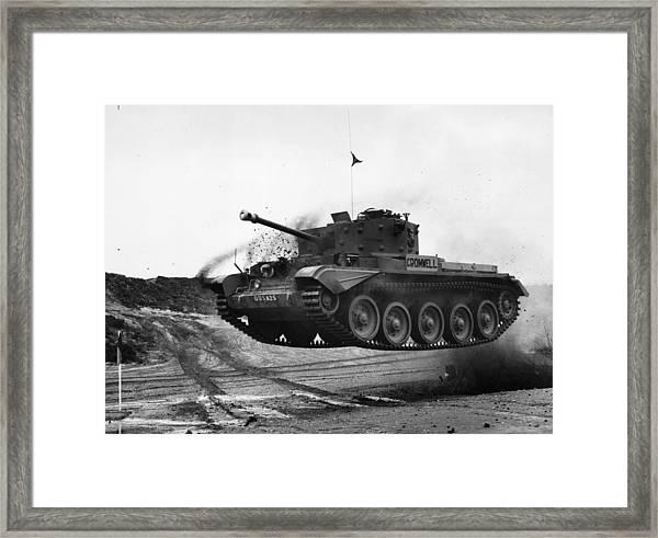 Happy Tank Framed Print