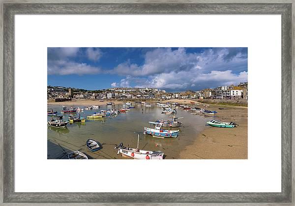 Harbour - St Ives Cornwall Framed Print