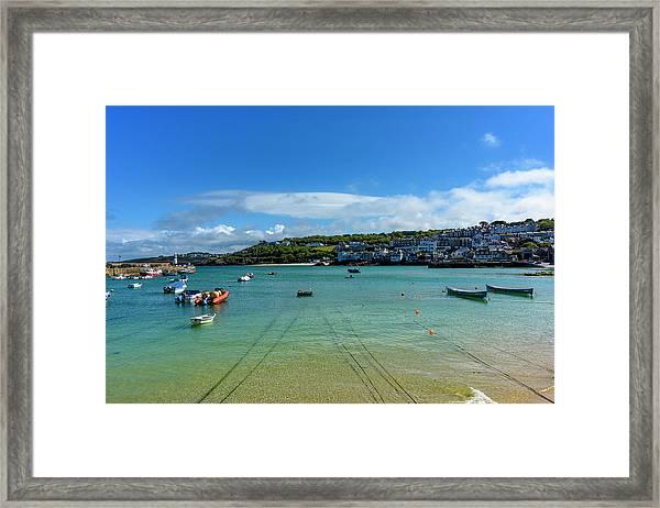 Harbour To Porthminster St Ives Cornwall Framed Print