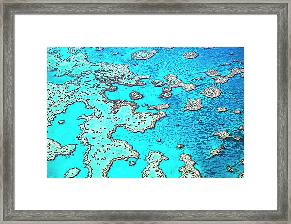 Hardy Reef In The Great Barrier Reef Framed Print