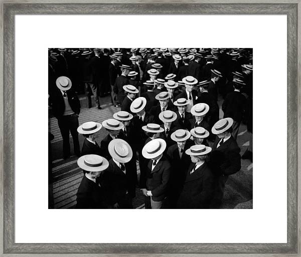 Harrow Boaters Framed Print