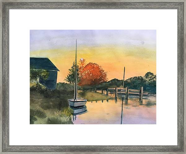 Harthaven Harbor, Mv Framed Print