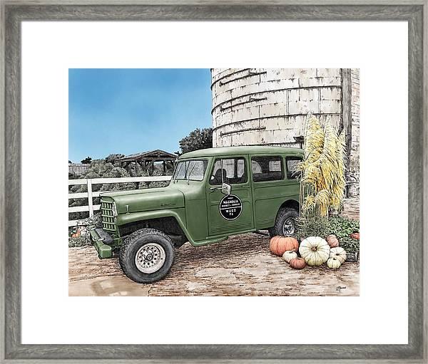Harvest At Magnolia Framed Print