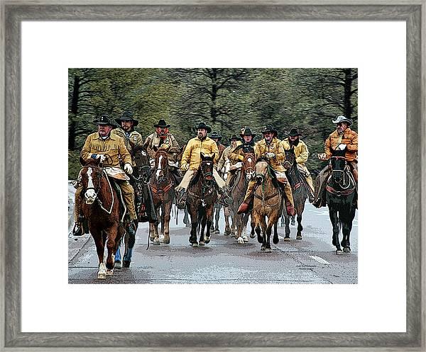 Hashknife Riders Framed Print