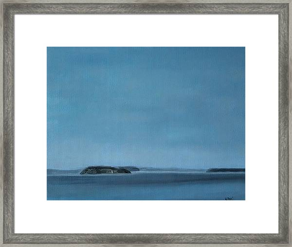 Hat Island View From Harborview Park Framed Print