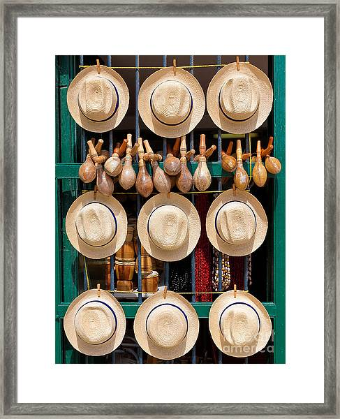 Hats, Musical Instruments,religious Framed Print