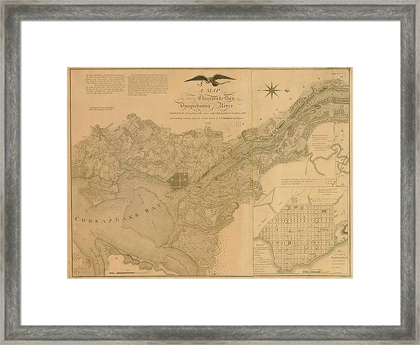 Havre De Grace, Susquehanna River And Framed Print by Historic Map Works Llc