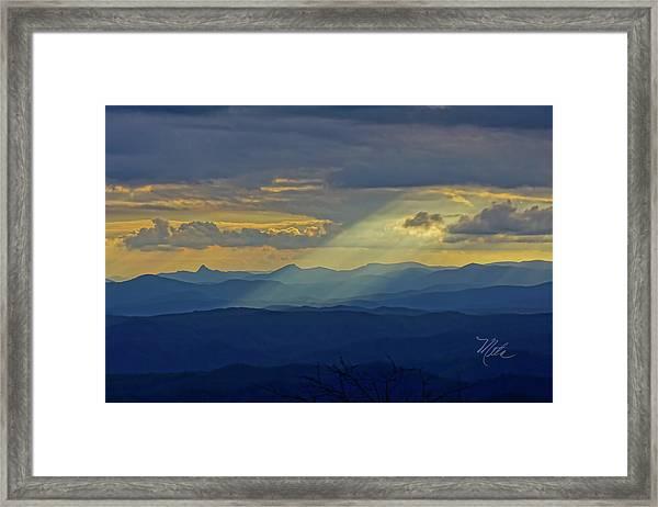 Hawks Bill Mountain Sunset Framed Print
