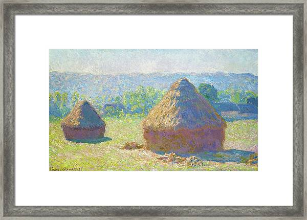 Haystacks, End Of Summer - Digital Remastered Edition Framed Print