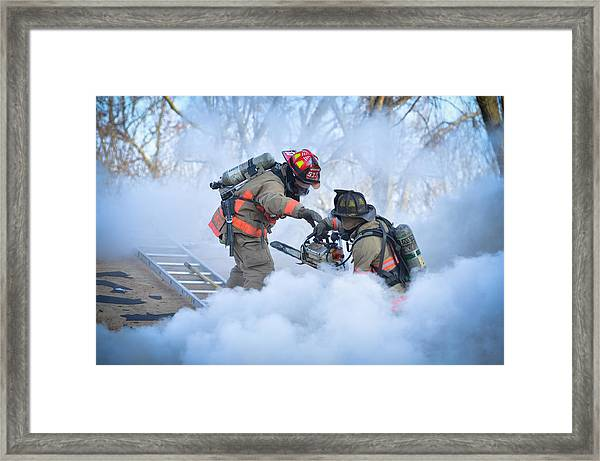 Hazardous Duty Framed Print