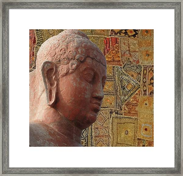 Head Of Buddha,  Framed Print