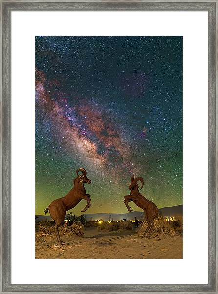 Head To Head With The Galaxy Framed Print