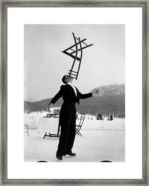 Head Waiter Rene Breguet Balancing Chair Framed Print