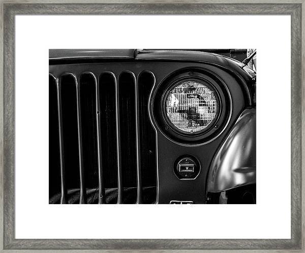 Headlight, Jeep Framed Print