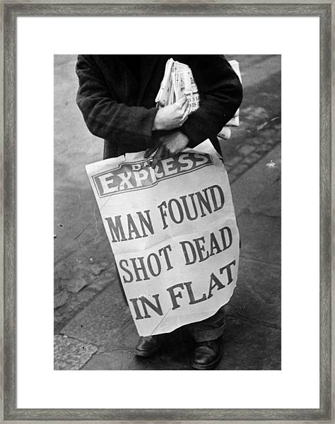 Headline News Framed Print