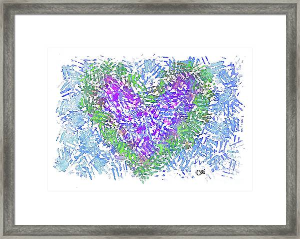 Heart 1008 Framed Print