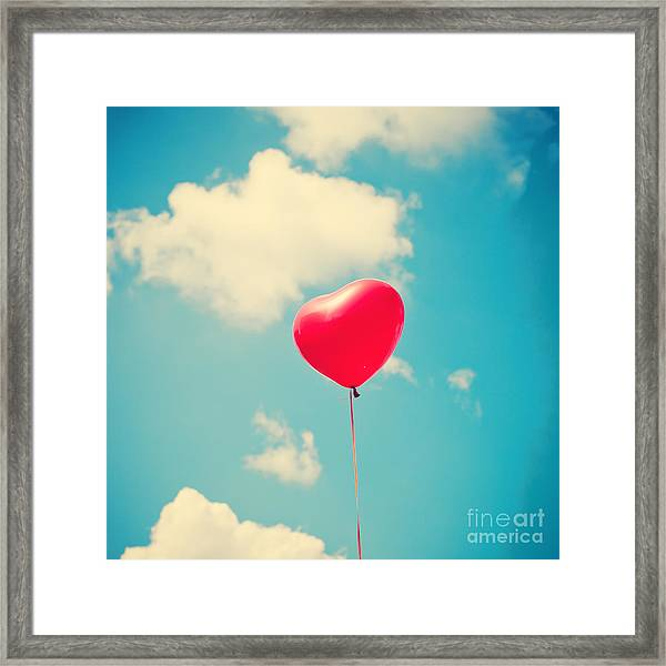 Heart Balloon Framed Print by Andrekart Photography