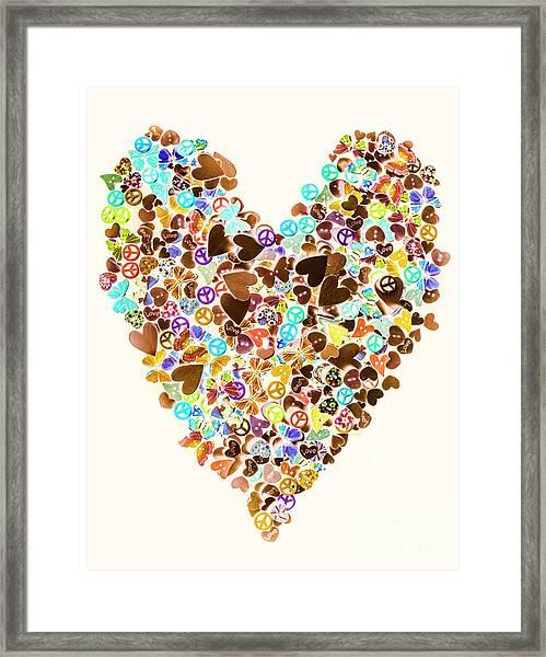 Heart Of A Hippie Framed Print