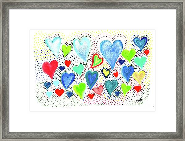 Hearts 1002 Framed Print