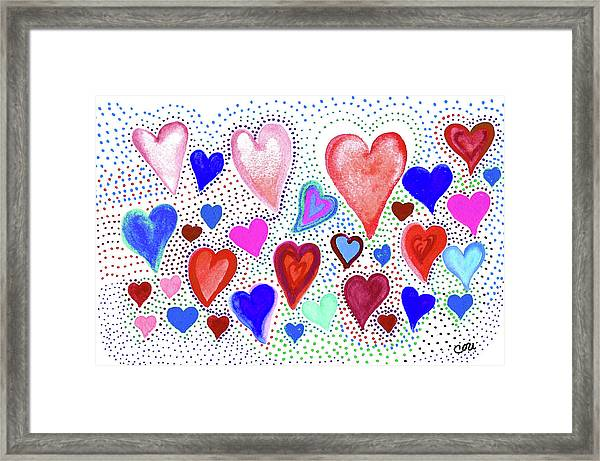 Hearts 1003 Framed Print