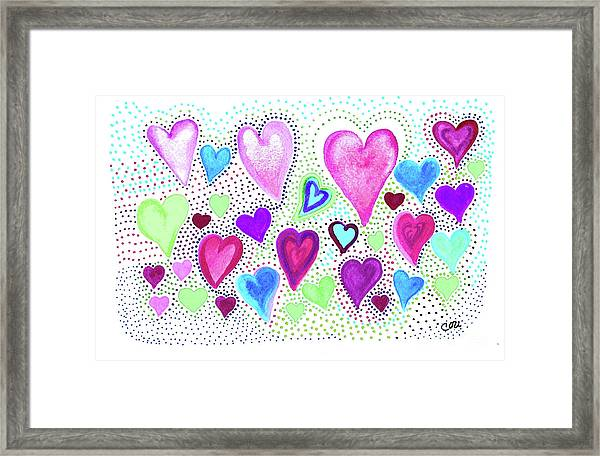 Hearts 1004 Framed Print