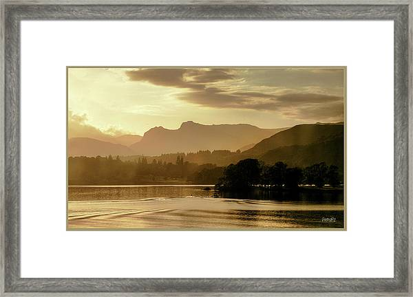 Heavens Golden Hour Framed Print