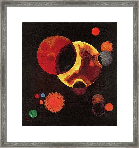 Heavy Circles Framed Print