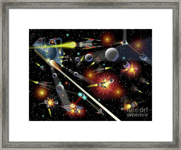 Hell In Space Framed Print