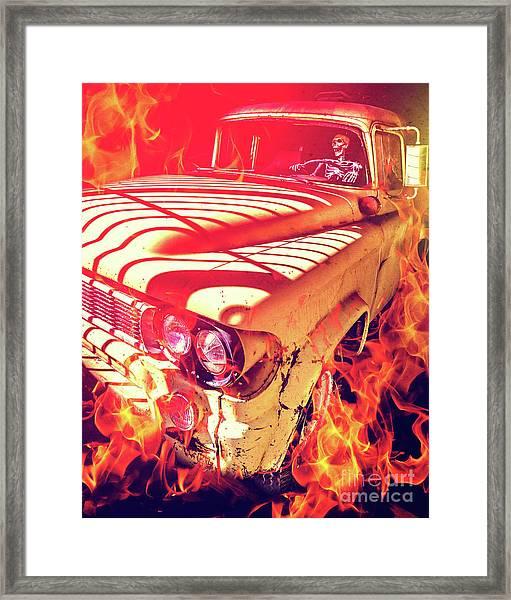 Hell Rider Framed Print