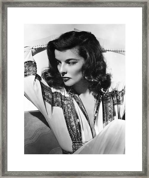 Hepburn Portrait Framed Print