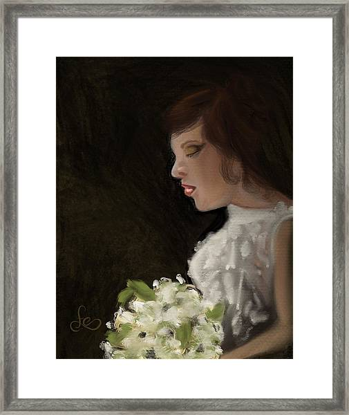 Framed Print featuring the painting Her Big Day by Fe Jones