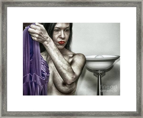 Her Dressing Room  Framed Print by ManDig Studios