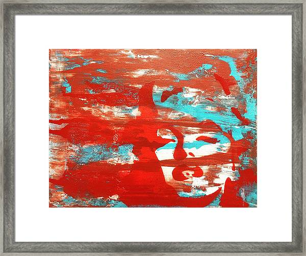 Her Glow Framed Print
