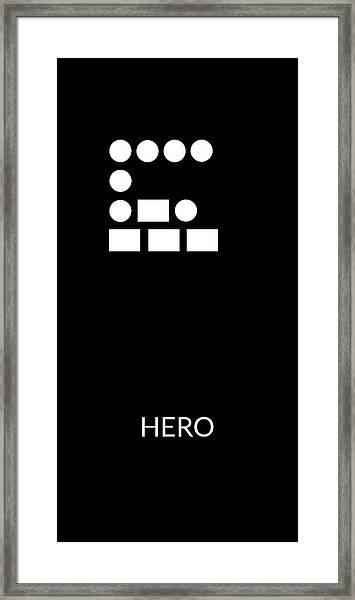 Hero Morse Code- Art By Linda Woods Framed Print