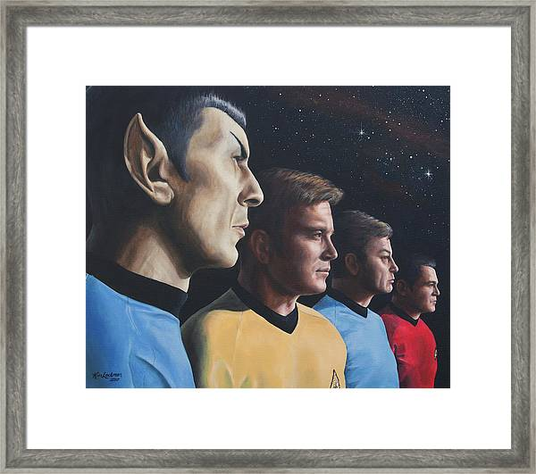 Heroes Of The Final Frontier Framed Print
