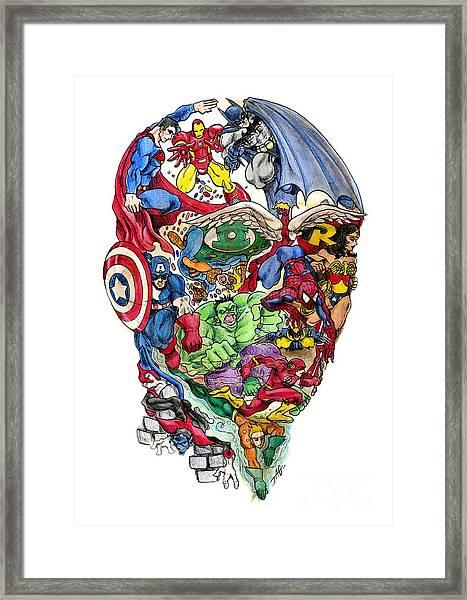 Heroic Mind Framed Print